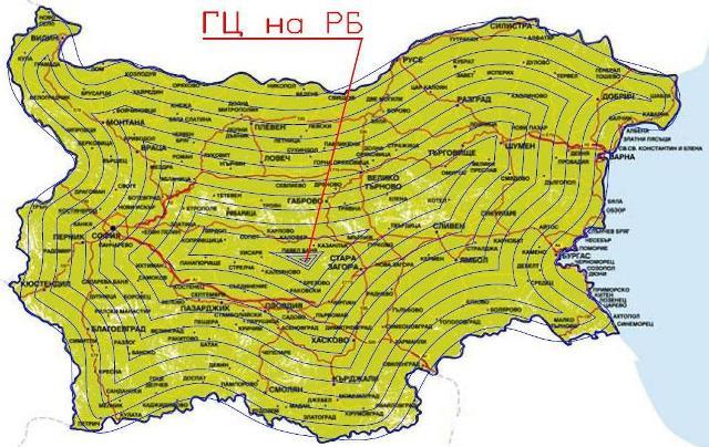 географски център на България