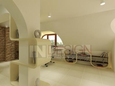интериорен дизайн на таванско помещение