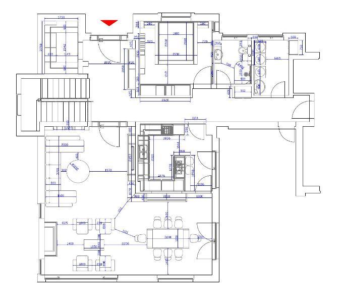 Аранжировка на първия етаж
