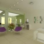 интериорен дизайн фризьорско студио