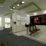 интериорен дизайн на фризьорско студио