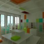 интериорен дизайн на библиотека