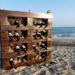 стелажи за вино от палети