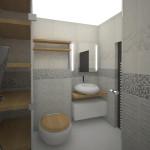 Трансформирана баня, но с място за всичко необходимо